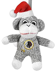 NFL Washington Redskins 2013 Sock Monkey Ornament, Red