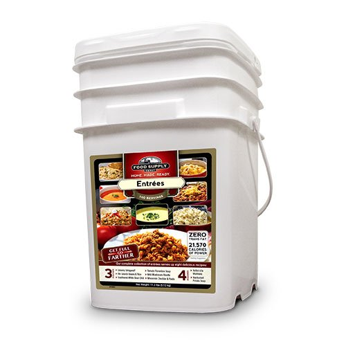 Food Supply Depot 90120004 Variety Entrees Emergency Food Bucket