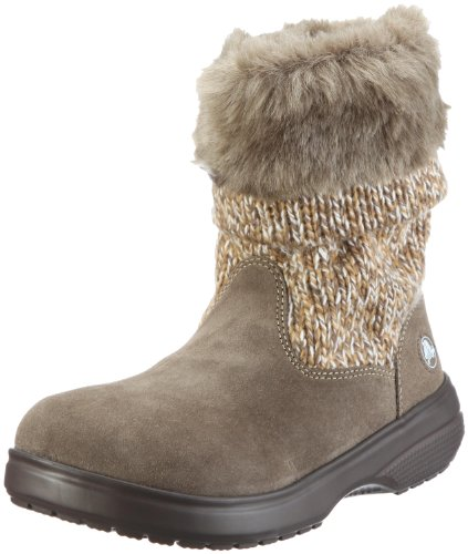 Crocs Women's Cozycrocs Bootie Canvas/Walnut Pull On Boot 11524-23Y-480 7 UK