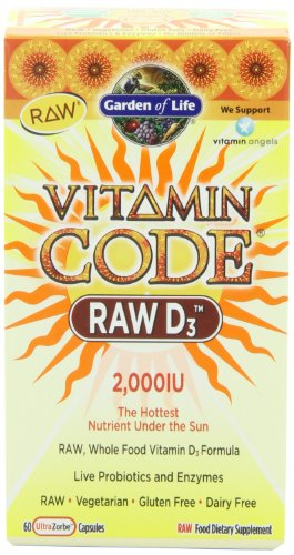 Garden of Life Vitamin Code (Raw D-3) (60 UltraZorbe Capsules)