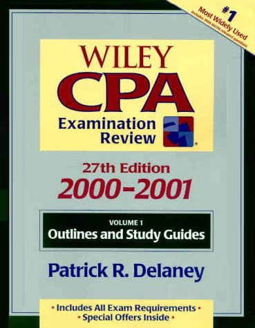 Wiley CPA Examination Review, Volume 1, Outlines and Study Guides, 27th Edition