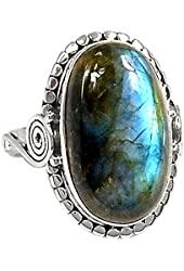 Xtremegems Labradorite 925 Sterling Silver Ring Jewelry Size 6.5 668R