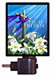 Religious Night Light - He is Risen Cross - Easter