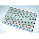 BB400 Solderless Plug-in BreadBoard, 400 tie-points, 4 power rails, 3.3 x 2.2 x 0.3in (84 x 55 x 9mm)