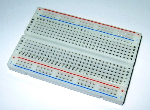 BB400 Solderless Plug-in BreadBoard - 400 tie-points - 4 power rails - 33 x 22 x 03in 84 x 55 x 9mm