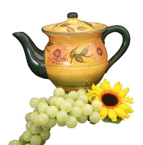 Tea Pot, Teapot Tea Kettle Sunflower Yellow