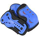 SFR Essentials Triple Pad Set AC760 (Blue/Red, Large (Age 9-12))