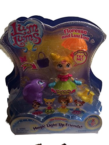 Lum Lums Magic Light-Up Friends! Doll - Floressa and LuuLuu 8 Piece Set