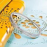 """LadyColour """"Waltz of Love"""" Bangle Bracelet With Clear Swarovski Crystals,Women Fashion Jewelry"""