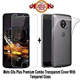 #3: MOTO G5s PLUS Back Cover / G5s PLUS Back cover shoppingmonk ...,,,(COMBO OFFER ) for ( MOTO G5s PLUS / G5s PLUS) - Ultra Thin Clear Transparent Flexible Soft TPU Slim Back Case Cover + Premium Tempered Glass screen protector (Clear)