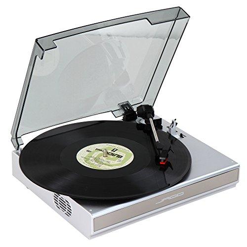 Jago tourne disque vinyle avec c ble usb haut - Tourne disque avec haut parleur integre ...