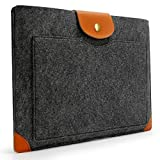 Lavievert Filz u. Leder Hülle Laptop-Tasche mit einer kleinen Seitentasche