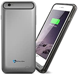 iPhone 6 Battery Case: Stalion® Stamina Rechargeable Extended Charging Case 3100mAh (Space Gray)[Apple MFi Certified] for iPhone 6 & iPhone 6s (4.7-Inches)