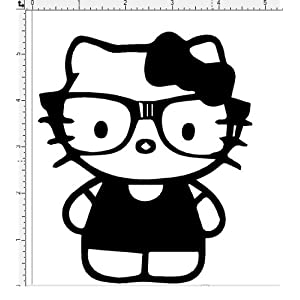 Nerd Hello Kitty Coloring Pages http://www.amazon.com/Hello-Kitty-Glasses-Window-Sticker/dp/B00AX2E1CS