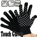 Touch Gloves タッチパネル対応手袋 ドット・ブラック/ホワイト 0990240