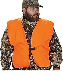 """Allen Company Orange Big Man Safety Vest Chest,52"""" - 60""""Chest"""