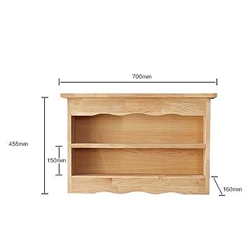 Étagère simple en bois massif salon mur suspendus cadre racks stand d'affichage stand de stockage