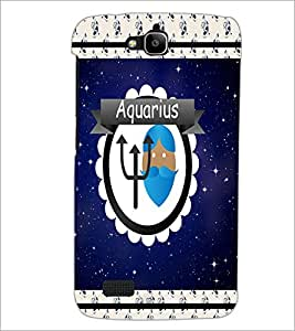 PrintDhaba Zodiac Aquarius D-2772 Back Case Cover for HUAWEI HONOR HOLLY (Multi-Coloured)