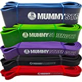 """MummyStrength (TM) Pull Up Assist & Resistance Bands (SINGLE Band - 5 Levels to Choose From 