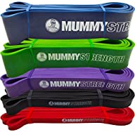 MummyStrength (TM) Pull Up Assist & Resistance Bands (SINGLE Band – 5 Levels to Choose From | Mix &…