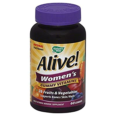 Alive! Women's Gummy Vitamins, Delicious Fruit Flavors 60 Gummies by Nature's Way