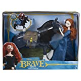Merida and Angus Brave Disney Pixar Figure Doll and Horse Gift Set