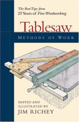 Tablesaw Methods of Work