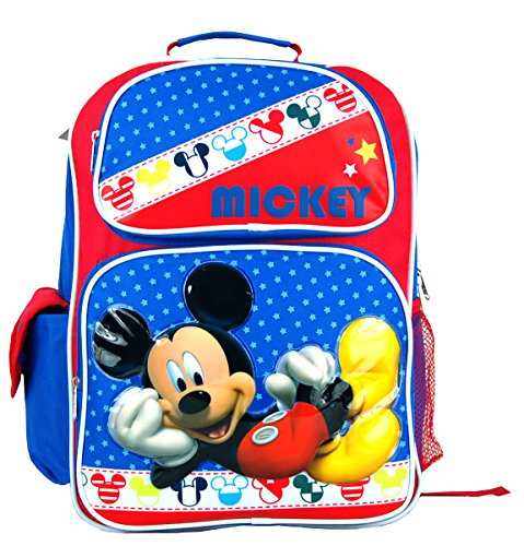 """Disney Mickey Mouse Large 16"""" Backpack. front-848085"""