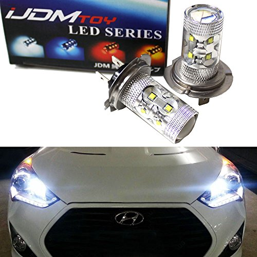 iJDMTOY Max 50W High Power CREE Q5 Type H7 LED Bulbs For Hyundai Genesis Sonata Veloster Accent on High Beam Daytime Running Lights (Veloster Headlight Led compare prices)