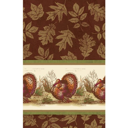 Thanksgiving Sophistication Tablecover 54 in x 102 in Thanksgiving Party Supply
