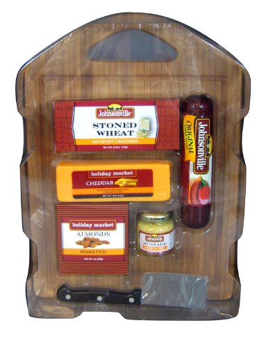 Johnsonville Deluxe Cutting Board Party Gift