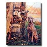 Hunting Dog Shotgun Bird Quail Home Decor Wall Picture 16x20 Art Print