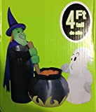 Airblown Halloween Inflatable Witch's Brew Witch Cauldron Ghost 4ft. Yard Decor Gemmy