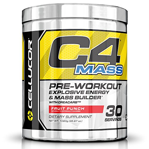 Cellucor C4 Mass Pre Workout Muscle Builder Supplement, Fruit Punch, 30 Servings (C4 Fruit Punch 30 Servings compare prices)