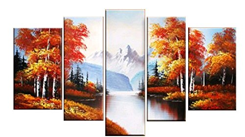 Vintga Autumn Landscape Hand-painted Handmade Oil Painting Canvas for Home Decor
