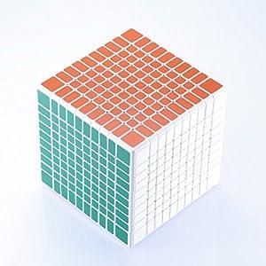 JohnsDollarStore 10X10X10 White Puzzle Magic Cube 6 Color