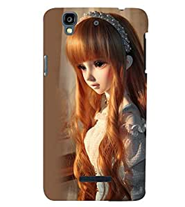 Printvisa Baby Doll Dressed Up In Check Dress Back Case Cover for YU Yureka
