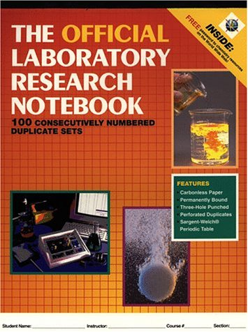 The Official Laboratory Research Notebook (100 duplicate...
