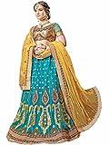 AASVAA Women's Stylist Blue Embroidered Lehenga Choli