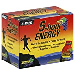 5 Hour Energy Energy Shot, Grape, 6 - 1.93 oz (57 ml) bottles