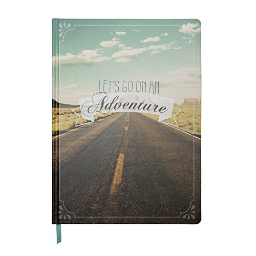 C.R. Gibson Recordable Guided Travel Keepsake Journal, Let's Go on an Adventure (JS113-14343)