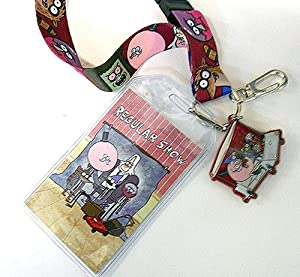 Amazon.com : NEW The Regular Show Mordecai & Rigby Lanyard With Rubber