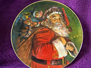 "Avon 1987 Collectible Christmas Plate ""The Magic That Santa Brings"""