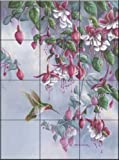 Broadtail and Fuschia by Wanda Mumm Tile Mural for Kitchen Backsplash Bathroom Wall Tile Mural