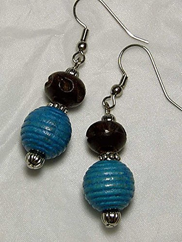 cynthia-lynn-affinity-dark-brown-turquoise-blue-wooden-beaded-fish-hook-earrings
