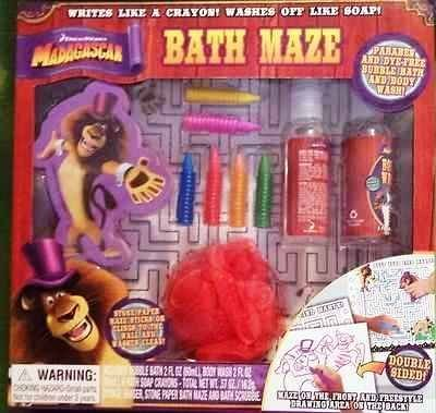 Madagascar Super Fun Fun!! Bath Maze Activity Gift Set