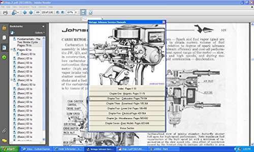 Johnson Outboard Motor Service Repair Manual 1922-64 (Antique Outboard Motors compare prices)