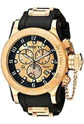Invicta Men's 15565 Russian Diver Analog Display Swiss Quartz Black Watch