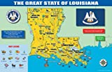 Gallopade Publishing Group 11 x 17 Inches The Louisiana State Map (9780635111401)