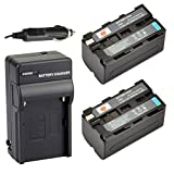 DSTE® 2x NP-F750 Battery + DC01